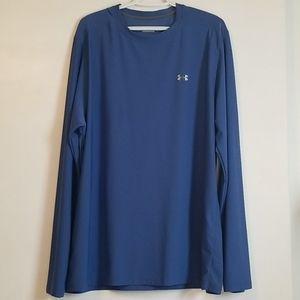 Under Armour Blue Long Sleeve Shirt Heatgear